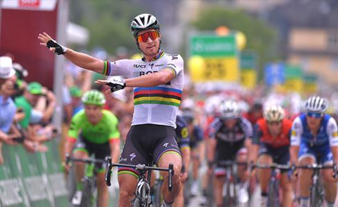 整条赛道都是我的舞台 Sagan边跳舞边赢得环瑞士第五站