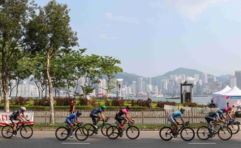 自由車一哥馮俊凱  領騎2017香港單車節
