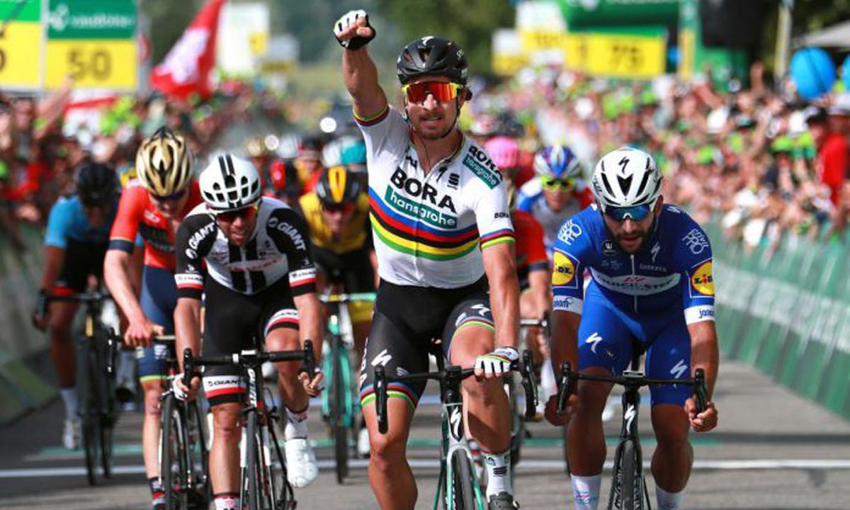 环瑞士第二站 Peter Sagan见机夺下