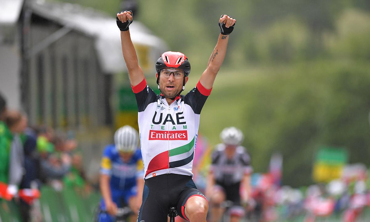 环瑞士第五站 Diego Ulissi最后200公尺俐落夺下