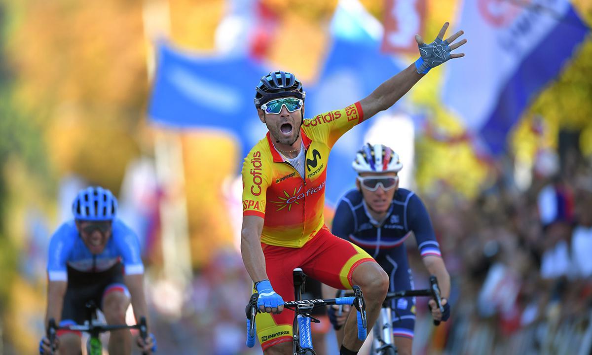 老将大爆发 Valverde赢得2018公路世锦赛彩虹衫