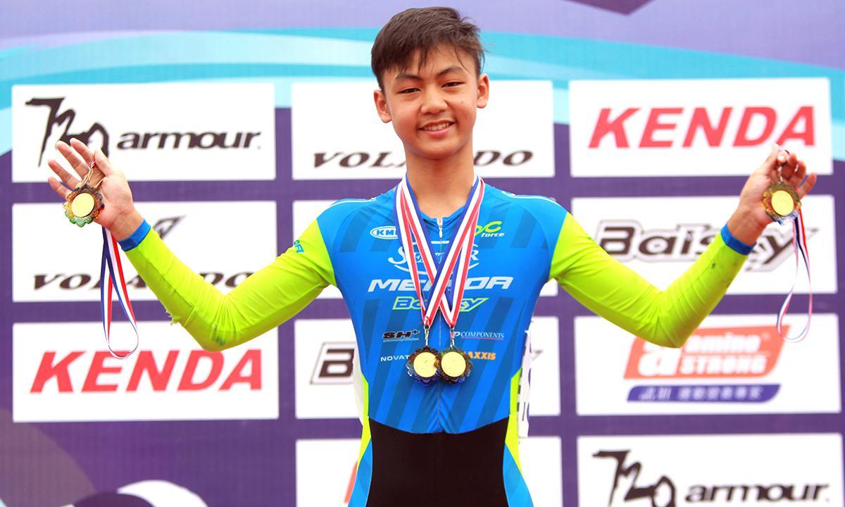 全國少年自由車場地錦標賽收兵 申騰美利達隊黃榆哲勇奪四金