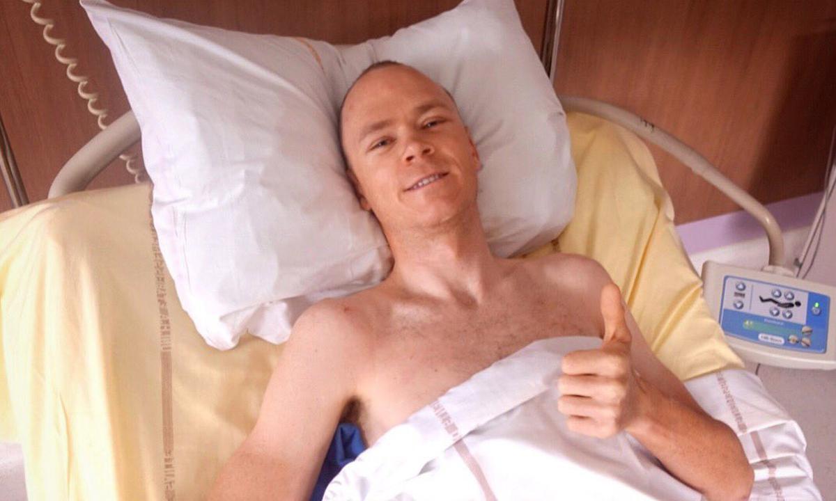 手術順利 Froome將進入長達六個月的康復期