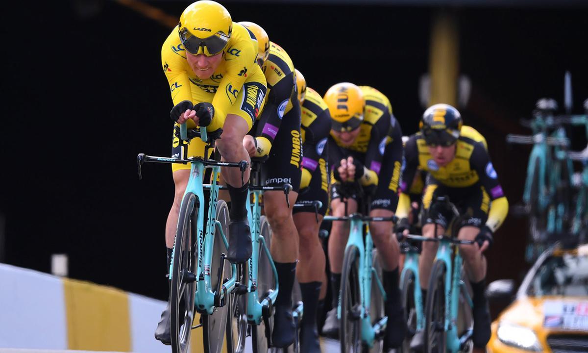 黄衫加持 Jumbo Visma以均速57称霸环法团队计时赛