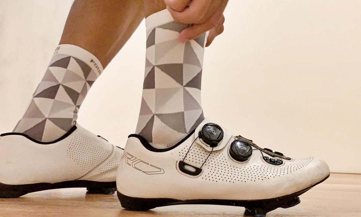 评测!足部防护装备 FOURIERS压缩骑行袜