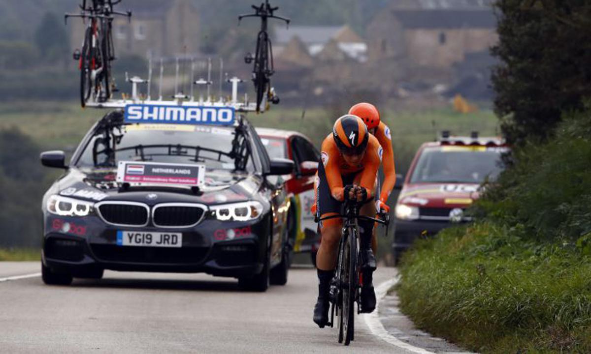 UCI世锦赛 新制男女溷合计时赛 飞翔的荷兰队夺冠!